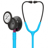 3M Littmann Classic III Monitoring Stethoscope, Smoke Chestpiece, Turquoise Tube, Pink Stem and Smoke Headset, 27 inch, 5872
