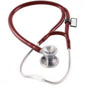 MDF Classic Cardiology Dual Head Stainless Steel Stethoscope - Burgundy (NAPA) (MDF79717)