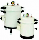 Portable vertical autoclave aluminium epoxy finish with timer