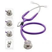 MDF MD One Epoch Titanium Stethoscope- Purple (Purple Rain) (MDF777DT08)